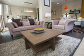 Display lounge area in show room — Stock Photo