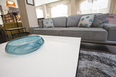 Living room area in show home — Stock Photo