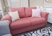 Sofa in liviing room of show home — Stock Photo