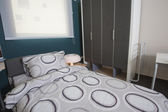 Childrens bedroom in show home — Stock Photo