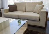 Lounge furniture in show room — Stock Photo