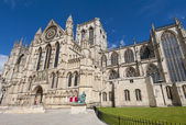 Old english cathedral in city center — Stock Photo