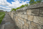 Old city walls in famous english town — Stock Photo