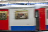 Abstract motion blur of train — Stock Photo