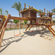 Childrens climbing frame in park — Stock Photo #49436279