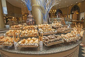 Bread selection at hotel buffet — Stock Photo