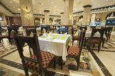 Interior of luxury hotel restaurant — Stock Photo
