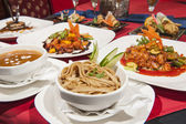 Selection of chinese food in a restaurant — Stock Photo