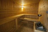 Interior of sauna in health spa — Stock Photo
