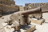 Old canons at a roman fort — Stock Photo