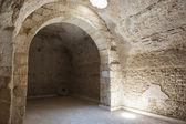 Interior of old roman cistern — Stock Photo