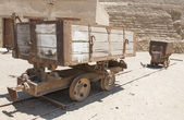 Old abandoned mine railway truck — Stock Photo
