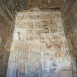 Egyptian hieroglyphic carvings on a temple wall — Stockfoto #8743507