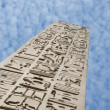 Ancient egyptian obelisk at a temple — Stock Photo #8844540