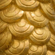 Texture of Gold half round — Foto de Stock