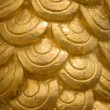 Texture of Gold half round - Stock Photo