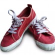 Pair vintage red shoes — Stock Photo