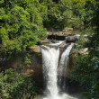 Top View of Haew suwat waterfall - Stock Photo