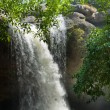 Front View of Haew suwat waterfall - Stock Photo