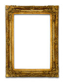 Oude gouden houten frame — Stockfoto