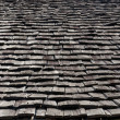Front view perspective wood roof — Stock Photo