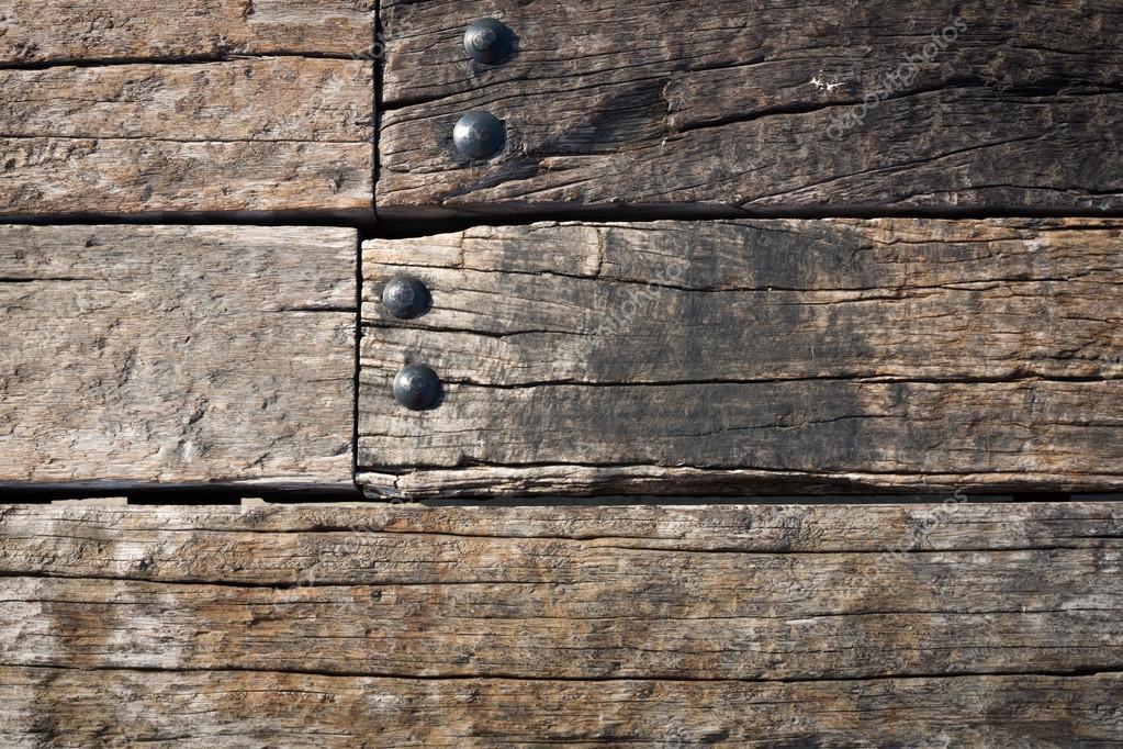 Pareti In Legno Vecchio : Parete in legno vecchio grunge e dado ...