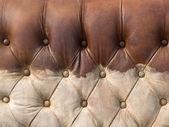 肮脏的棕色皮革的纹理 — 图库照片
