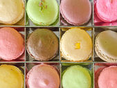 Top View of Macaron in Box — Stock Photo