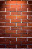 Texture de mur de brique rouge — Photo