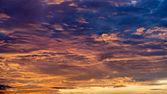 Beautiful orange and blue clouds Horizontal — Stock Photo