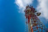 Telecommunications antenna for radio, television and telephony — Stock Photo
