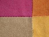 échantillon tissu couleur de tonalité chaude — Photo