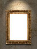 золотой урожай фото рамка на стене гранж — Стоковое фото