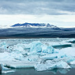 Icebergs and glacier — Stock Photo