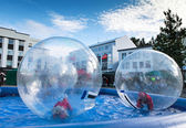 Playing in the bubble — Stock Photo