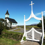 Icelandic church — Stock Photo
