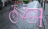 Pink bicycle — Stock Photo