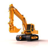 Excavator isolated — Stock Photo