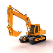 Excavator isolated — Foto Stock