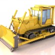 Bulldozer isolated — Stock Photo