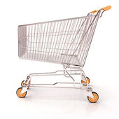 Shopping cart isolated — Stock Photo