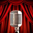 Microphone on stage - Foto de Stock