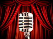 Microphone on stage — Foto de Stock