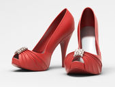 Red shoes — Foto Stock