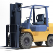 Stock Photo: Forklift loader close-up