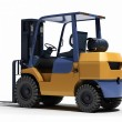 Forklift loader close-up - Stock Photo