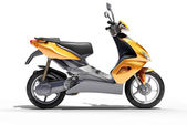 Trendy orange scooter close up — Stock Photo