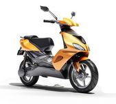 トレンディなオレンジ スクーターをクローズ アップ — ストック写真