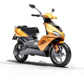 Trendy orange scooter close up — Стоковое фото