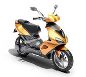 Trendy orange scooter close up — 图库照片